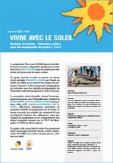 Vivre avec le soleil - Cycles 1, 2 et 3 (école primaire)