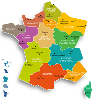 Carte de france des associations