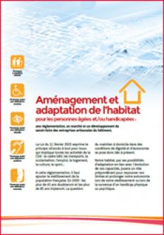 Aménagement et adaptation de l'habitat pour les personnes âgées et/ou handicapées