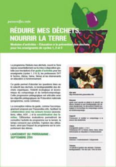 Réduire mes déchets, nourrir la terre - Cycle 1,2,3 de l'enseignement primaire