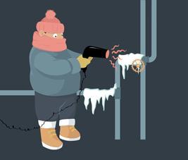Les dommages causés par le gel